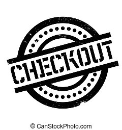 Checkout rubber stamp