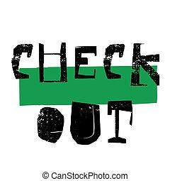 Checkout sticker stamp