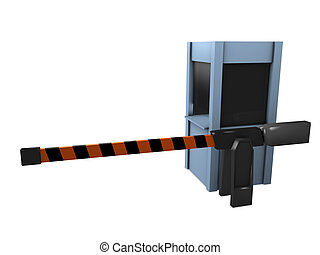 3d image, conceptual automatic checkpoint guard