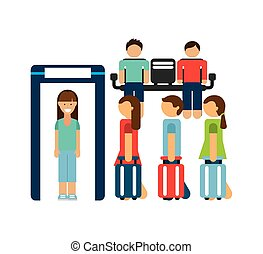 checkpoint airport design, vector illustration eps10 graphic
