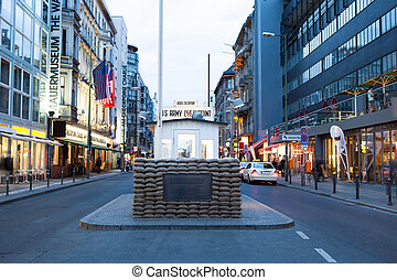 Checkpoint Charlie, Berlin, Germany - Checkpoint Charlie at...