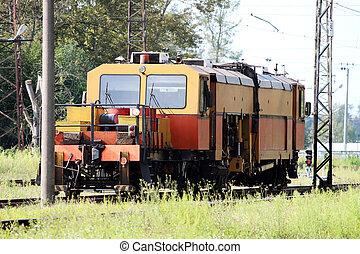 checks., vasút, biztonság, motorkocsi, fenntartás