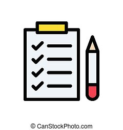 checkup flat color icon