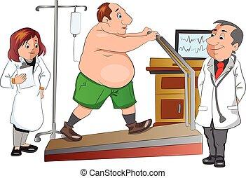 checkup, ilustracja, fizyczny