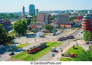 checo, calle, república, brno
