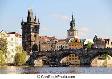 checo, charles, república, puente, praga