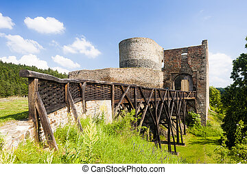 checo, krakovec, castillo, república, ruinas