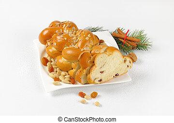 checo, navidad, trenzado, bread