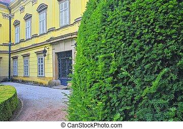 checo, sitio, buchlovice, república, balaustrada, aislamiento, castillo