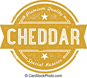 Cheddar Cheese Vintage Label - Vintage label graphic.