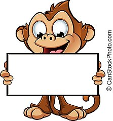 A cartoon illustration of a cheeky monkey character.