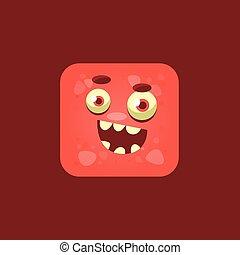 Cheeky Red Monster Emoji Icon