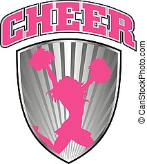 Cheer Design With Shield - Illustration of a cheer or ...