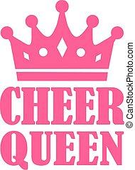 cheer, dronning, bekranse