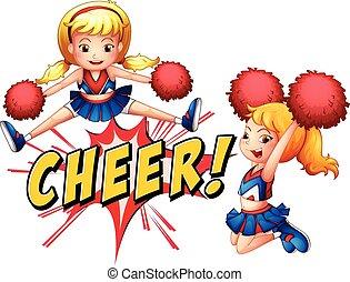 cheer, piger