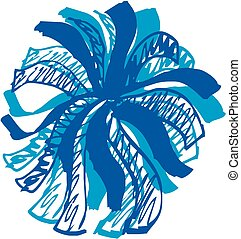 Cheer Pom Pom - Simple and fun, This Pom Pom is drawn in a ...