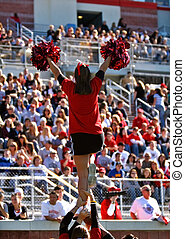 Cheer Squad Cheerleader - Female cheer squad cheerleader...