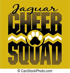 cheer, squad, jaguar