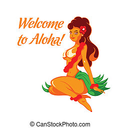 Cheerful Aloha girl