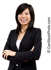 Asian business women - Cheerful Asian business women...