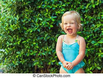 Cheerful baby girl