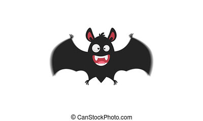 Cheerful Bat in Flight Version 2. Motion Graphics. ...