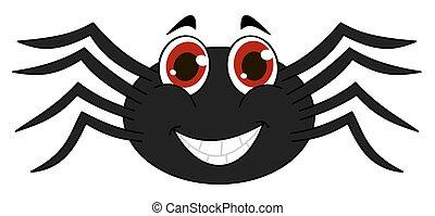 cheerful black spider