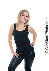 cheerful blonde