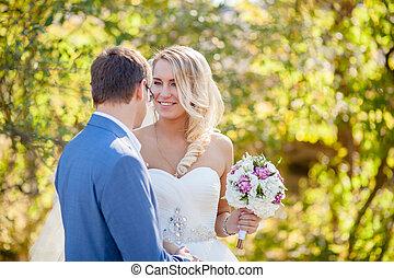 cheerful bride wedding