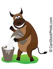 Cheerful bull