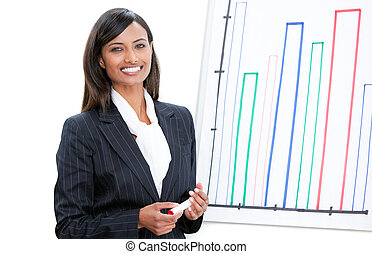 Cheerful businesswoman at a meetint - Confident...