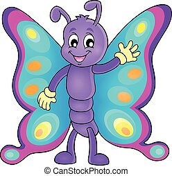 Cheerful butterfly theme image 1