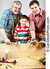 Cheerful carpenters
