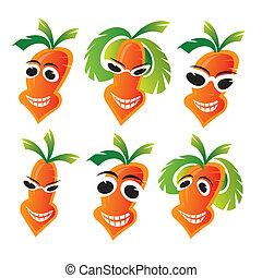 Cheerful carrots  - carrots illustration