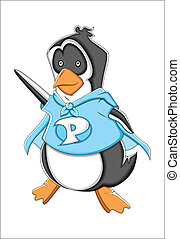 Cheerful Cartoon Penguin