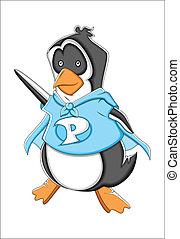 Cheerful Cartoon Penguin