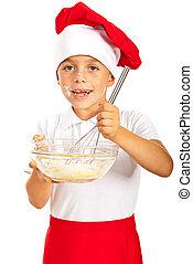 Cheerful chef boy
