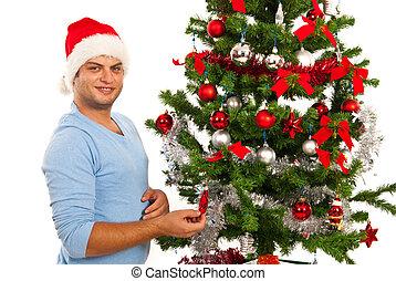 Cheerful Christmas man