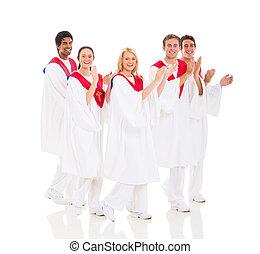 church choir performing