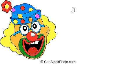 Cheerful clown