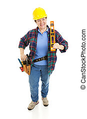 Cheerful Construction Woman