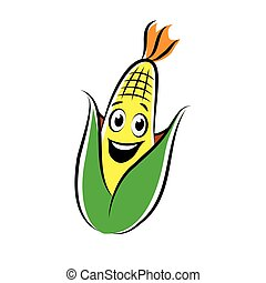 cheerful corn character