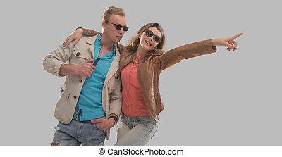 Cheerful couple enjoying a warm day