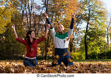 Cheerful Couple Together In The Nature - Happy Couple ...