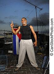 Cheerful cuban guy