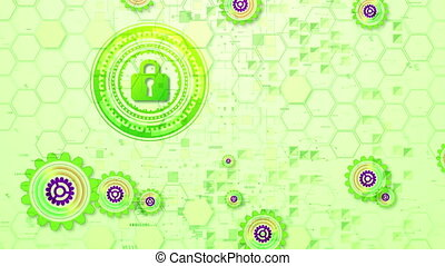 """""""Cheerful Cyber Security Cogwheels Spin"""" - """"Cheery 3d..."""