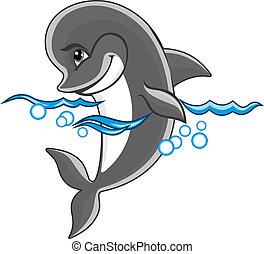 Cheerful dolphin