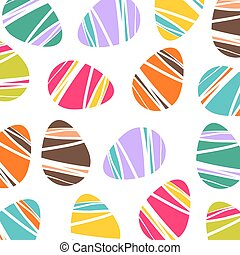 Cheerful Easter background with colorful decorated eggs