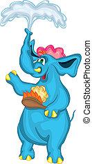 cheerful elephant
