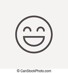 Cheerful emoji thin line icon